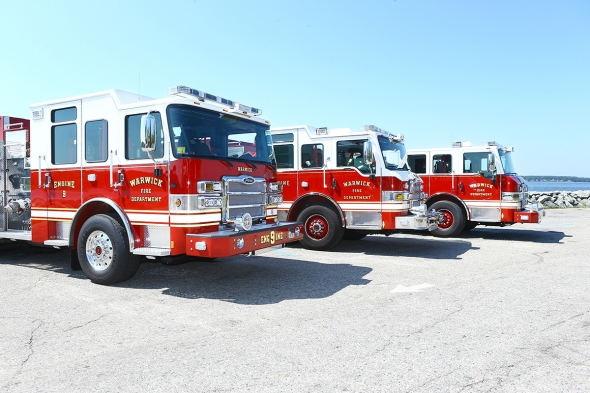 Warwick Fire Dept photo of new Pierce Apparatus July 2015 provided by Seth Francis