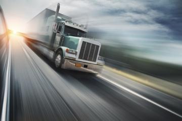Truck Driving Fast